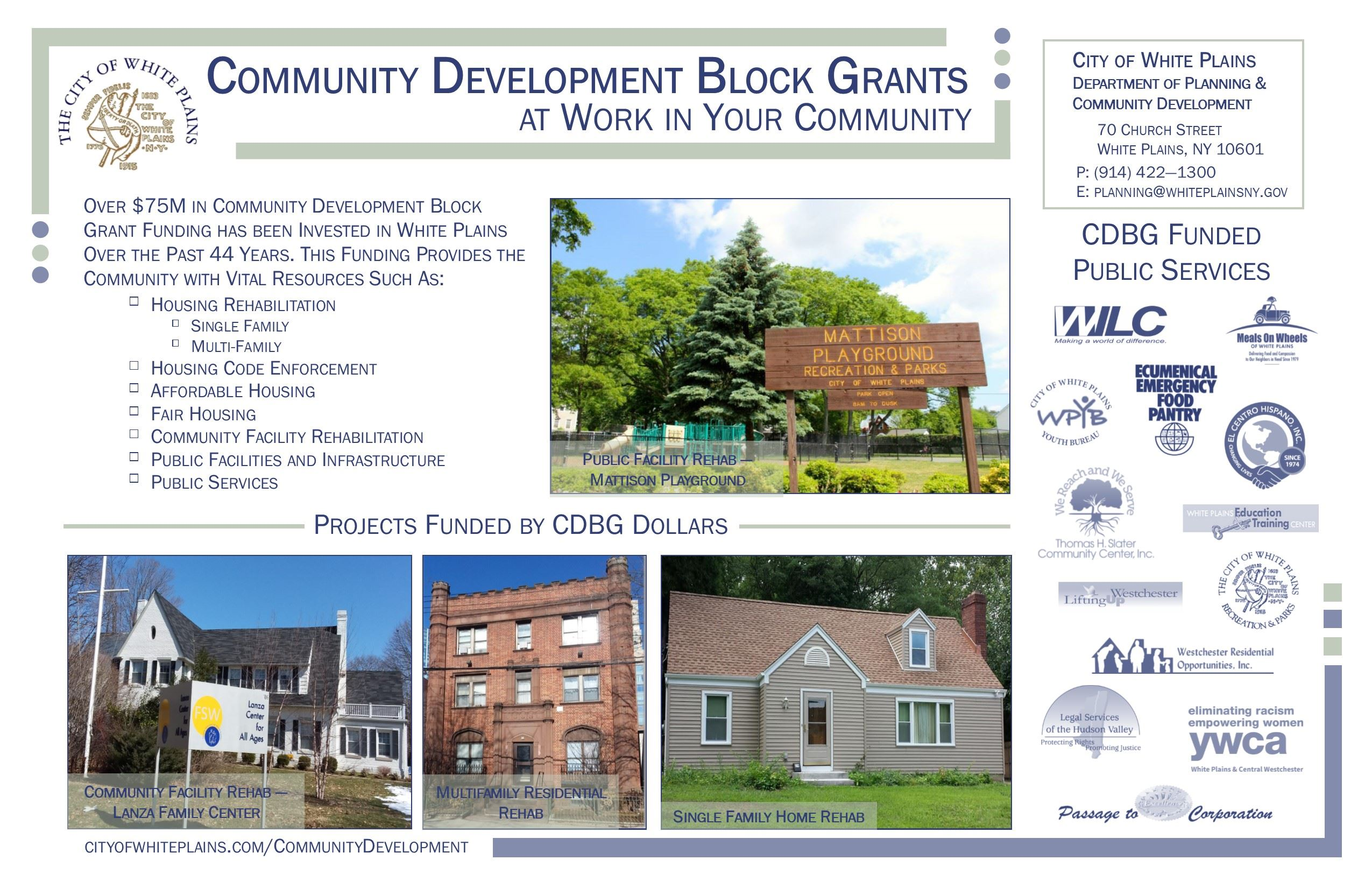 Community Development Block Grant Poster
