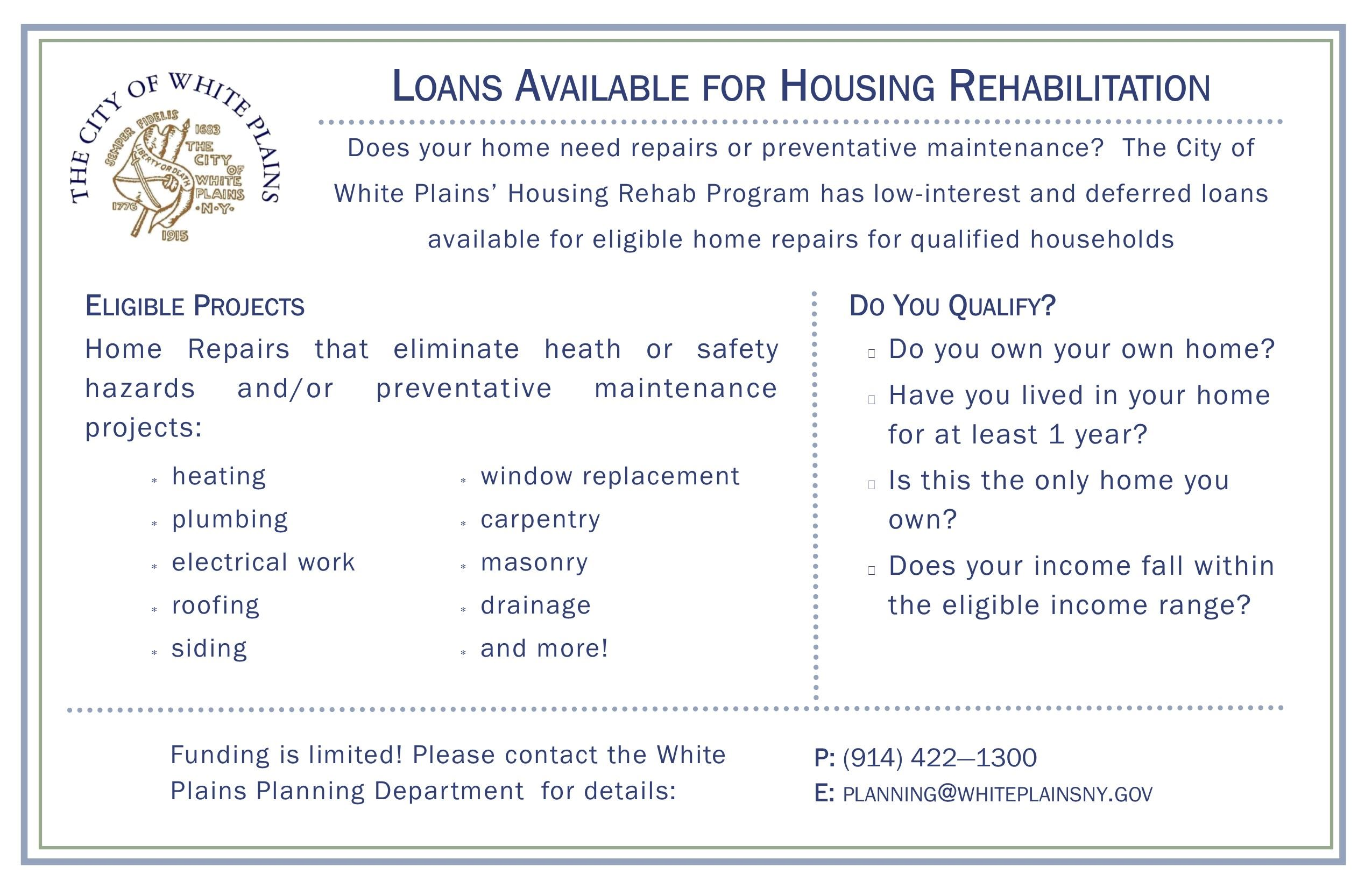 Home Rehab Program Flyer