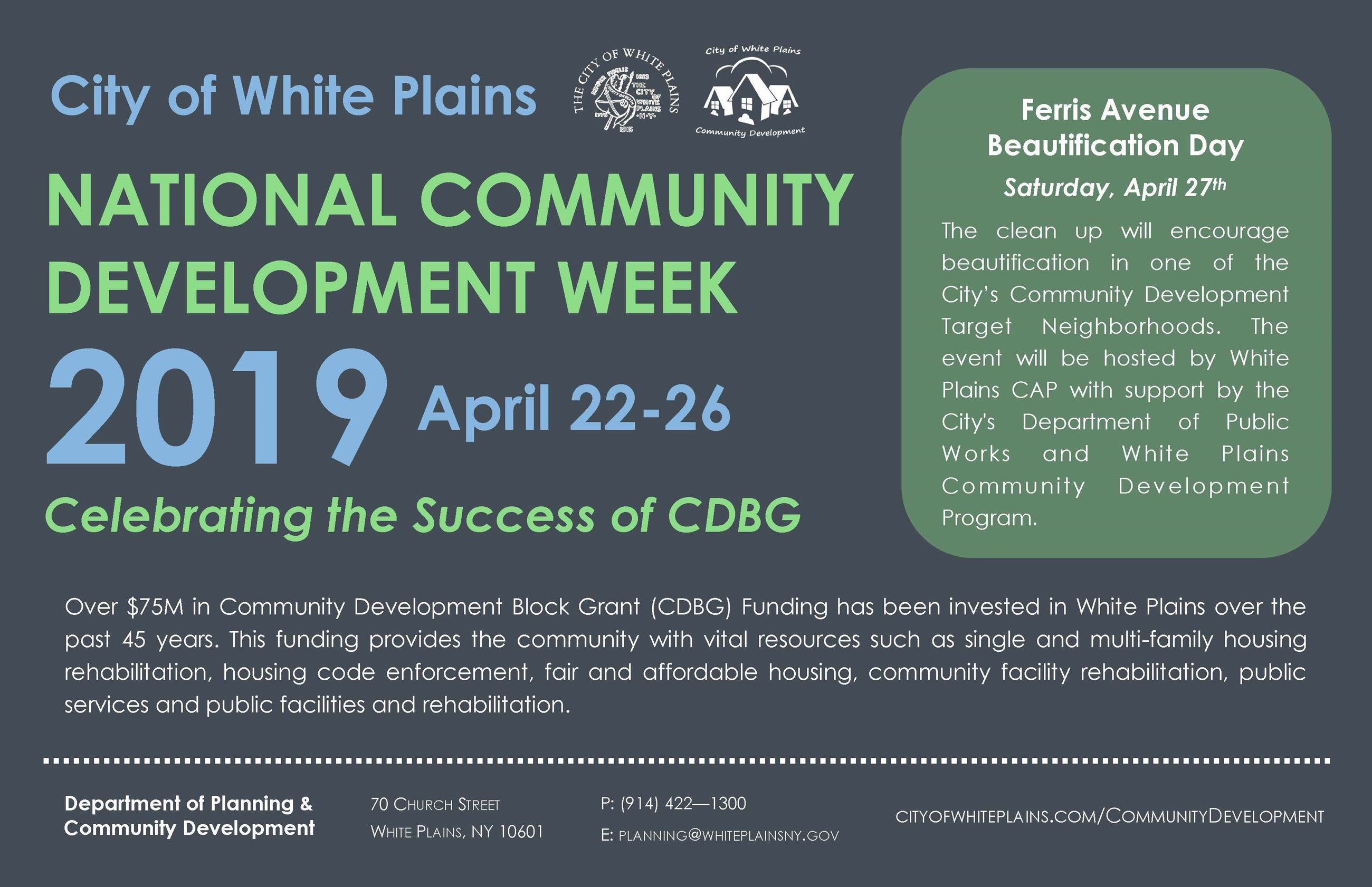 2019 Community Development Week