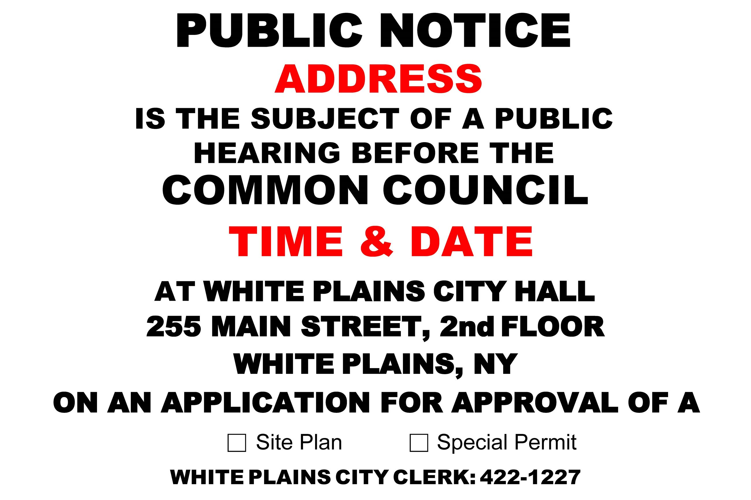 Common Council PUBLIC NOTICE Fillable Sign