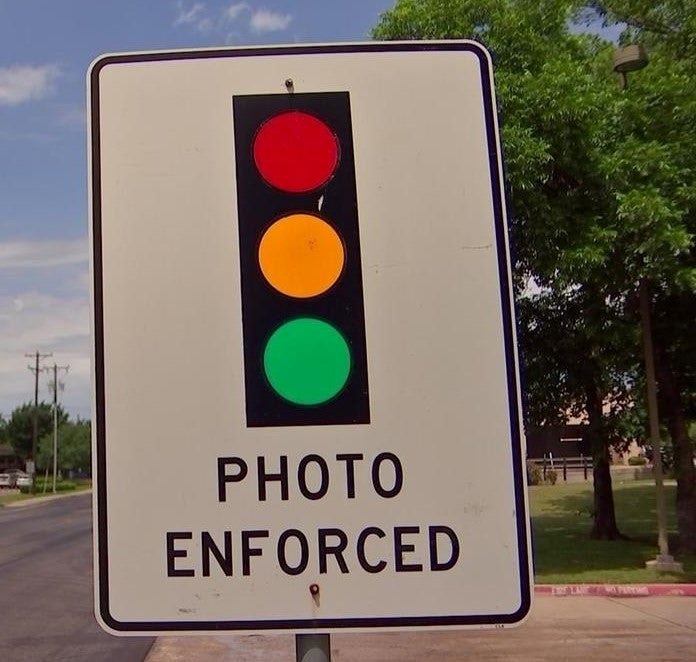 red light camera enforced sign