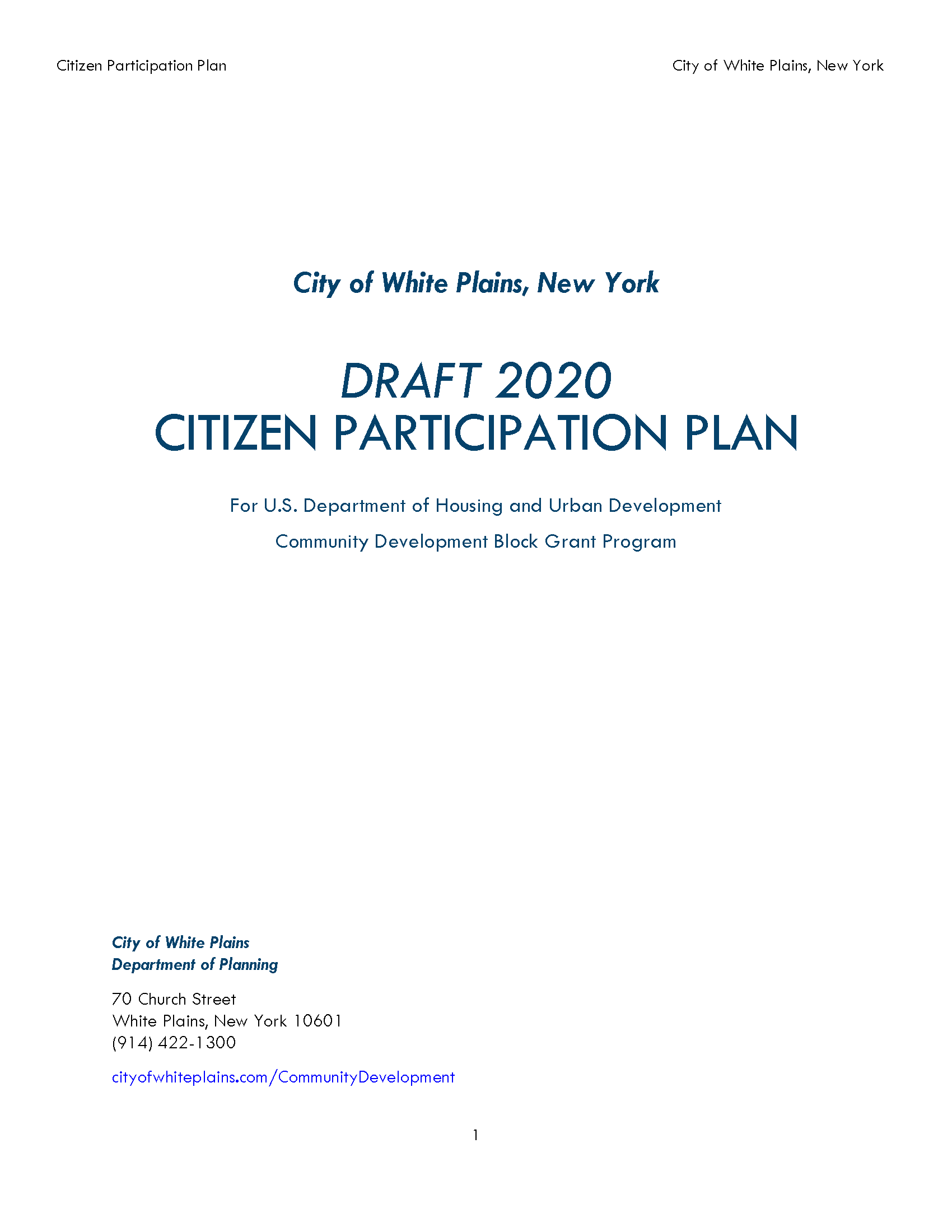 Draft 2020 CPP Cover Page