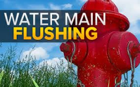 water main flushing red hydrant