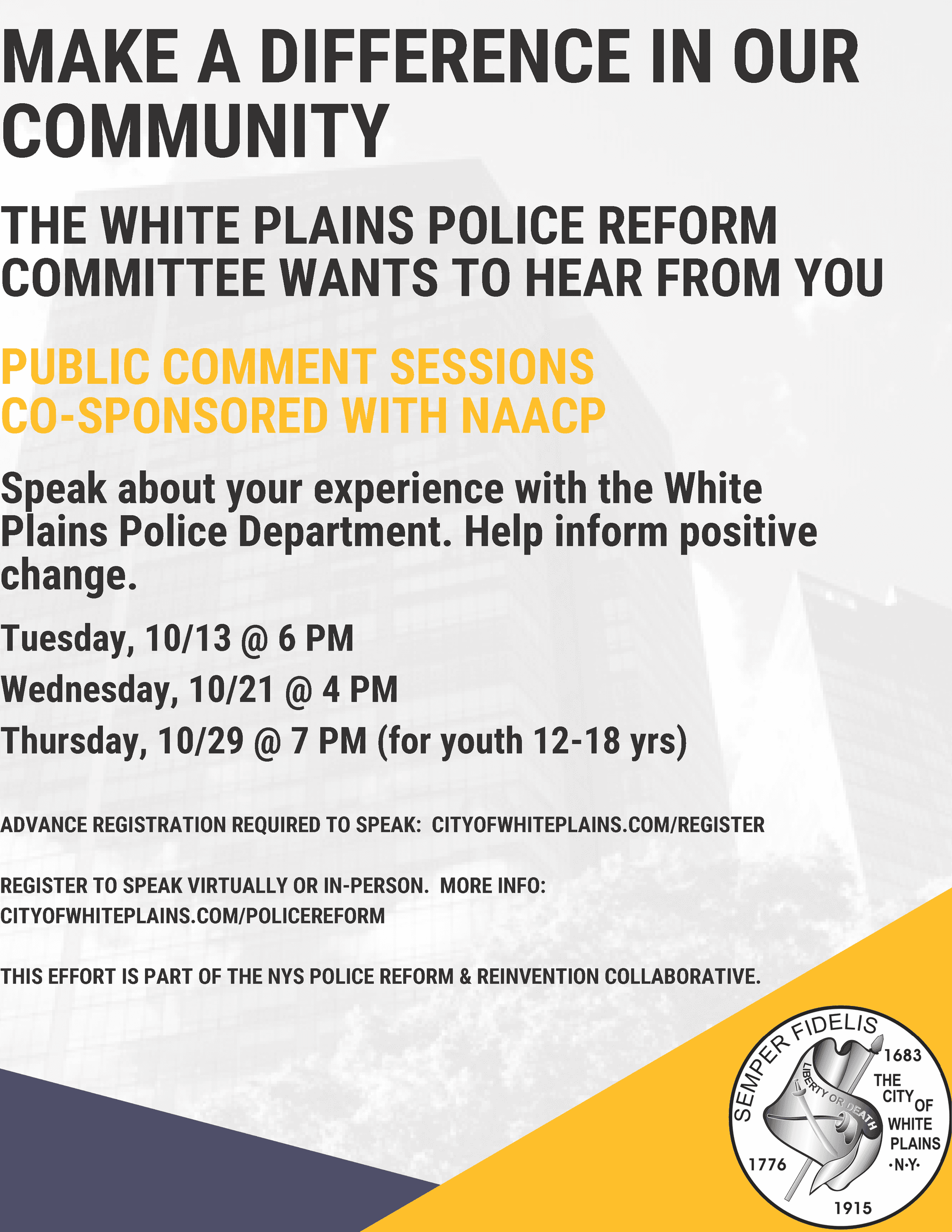 Police Reform Flyer - English