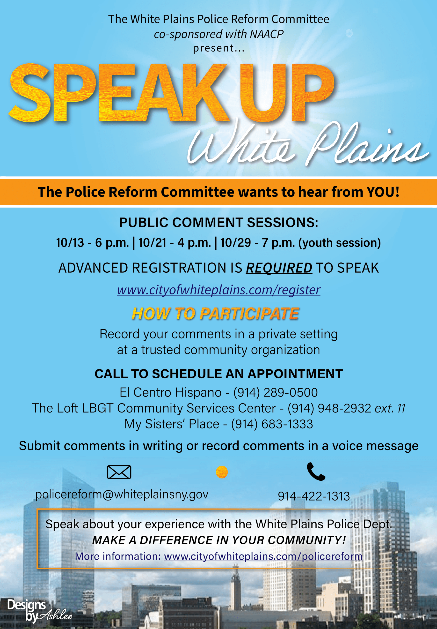 Police Reform Flyer 2 - English