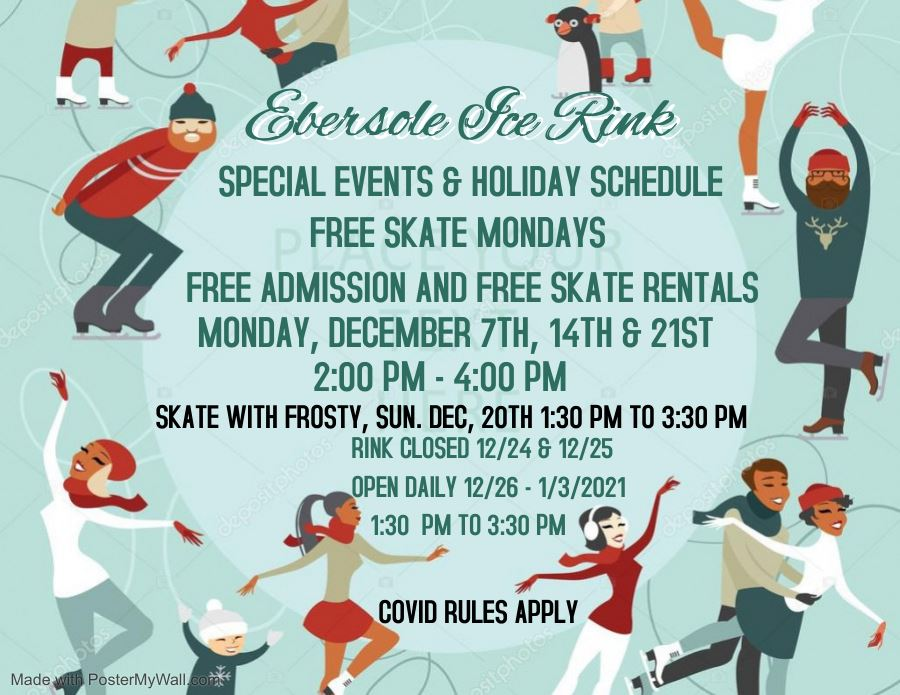 Ebersole Ice Rink 2020 Holiday programming