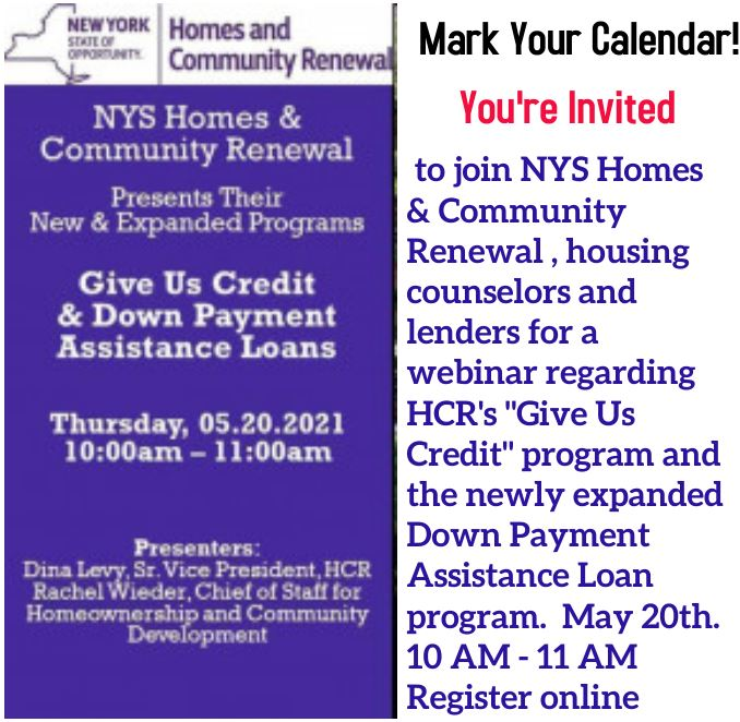 Give Us Credit - NYS HCR webinar