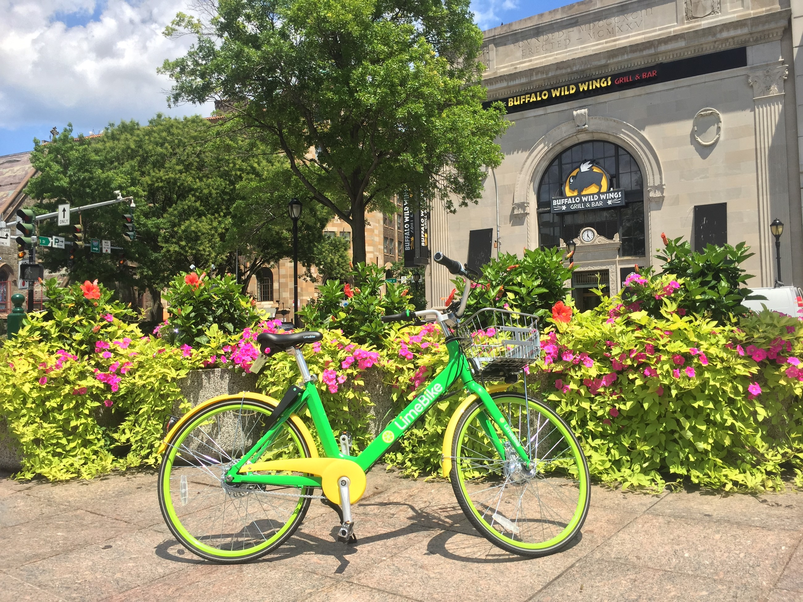 Lime Bike in Downtown WP
