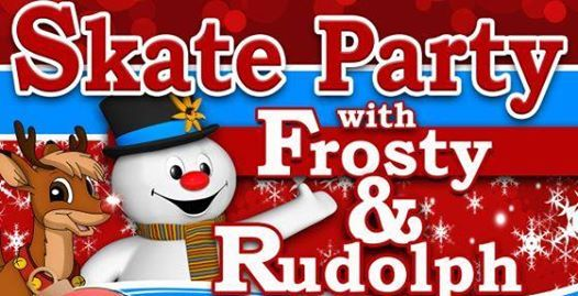 Frosty and Rudolph skate party
