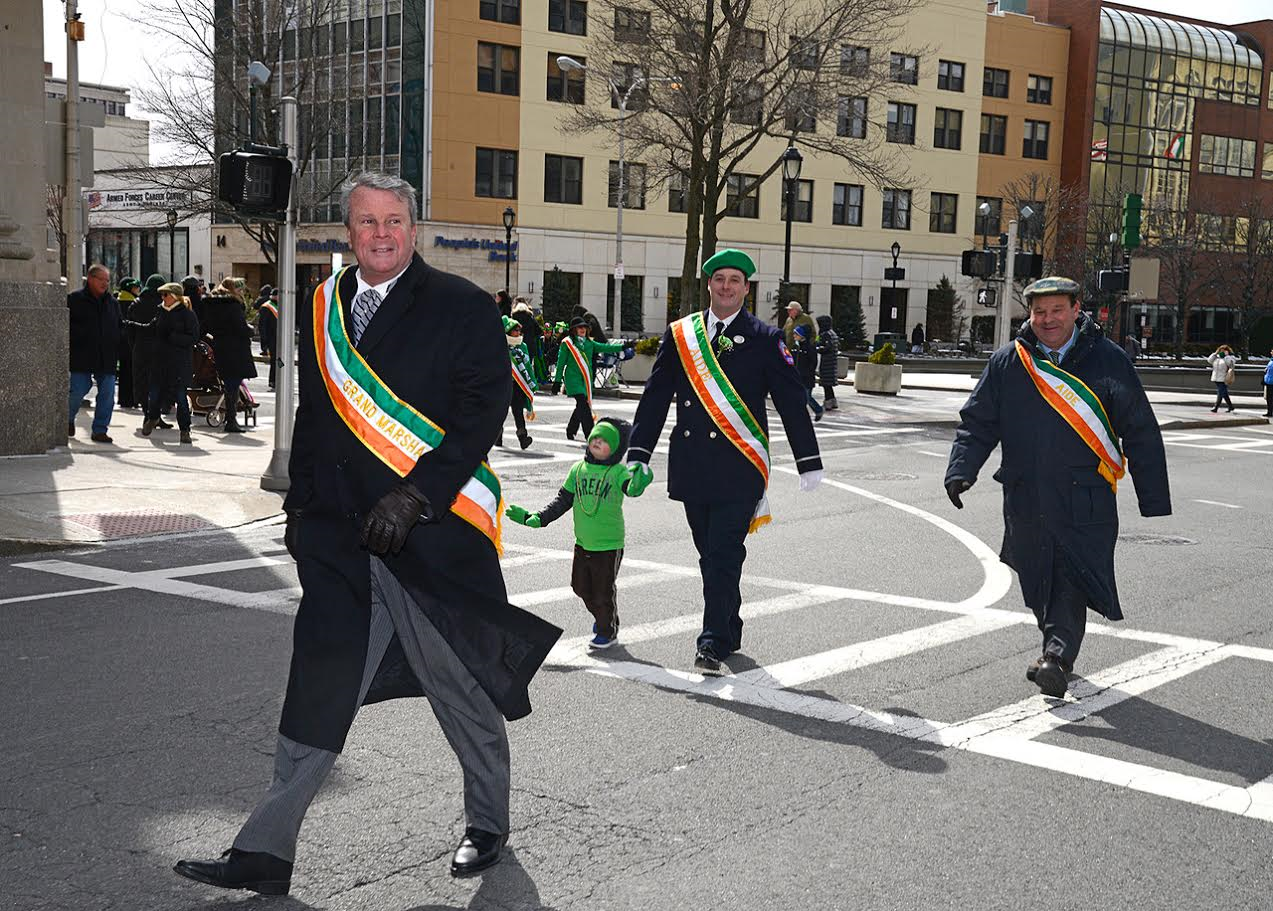 2017 St. Patricks Day Parade Grand Marshal and Aid